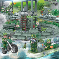 Wholesale bricks toys army online - Camouflage Army Mini Toy Figure Armed Troop Jungle Commandos Amphibious Special Forces Military Model Modern War Building Block Brick