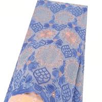 tissu de dentelle de mariage rose achat en gros de-2019 Voile Swiss Lace Tissu Magenta Nigérian Dentelle Tissus Pour Mariage Bébé Rose Indien Coton Indien Tissu Africain Dentelle Matériel