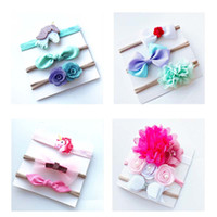 Wholesale white butterfly hair accessories for sale - Group buy Girl Hair Band Hair Accessories Unicorn Baby Nylon Butterfly Hair Ring Lace Cartoon Elastic Force Hairbands
