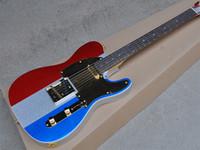 venda de basswood venda por atacado-Venda quente de Alta Qualidade 3 Cores Metálicas Custom Shop Rosewood Fingerboard Basswood Padrão Do Corpo 6 Cordas Guitarra Elétrica de Ouro hardware