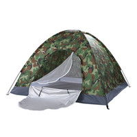 Wholesale car tents resale online - Waterproof Person Family Dome Camping Dome Tent Camouflage Hiking Outdoor Portable US Stock