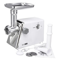 Wholesale sausage meat resale online - 220V W Electric Meat Grinder Stainless Steel Duty Sausage Stuffer Food Processor Grinding Mincing Stirring Mixing Machine