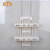Wholesale hook tiers for sale - Group buy BYN White Two Tiers Door Back PP Storage Hook Rack Bathroom Shower Door Toiletries Organizer Rack DQ1408
