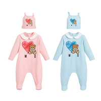 Wholesale baby boy kids clothing set striped resale online - Baby Girls Clothing set Cute Cartoon Newborn clothing Kids Long Sleeve Cotton Rompers Toddler Boys Clothes Children Infan Costumes