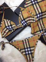 neuer modebikini großhandel-Italien Marke Sexy Frauen Bikini Badeanzug Sommer Neue Designer Mode Muster Bademode Bikini für Frauen Sommer Zweiteilige Bikini Badeanzug