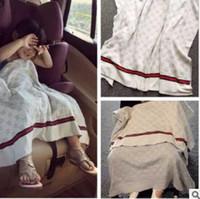 couvertures d'été pour enfants achat en gros de-Ins Baby Blanket Swaddling Summer Summer Striped Baby La climatisation est bébé enfants couvertures épaisses couvertures de climatisation Swaddling mince