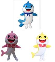 traje adulto de personagem unisex venda por atacado-Bebê Tubarão Traje Da Mascote dos desenhos animados fantasia traje do partido do Dia Das Bruxas Purim festa