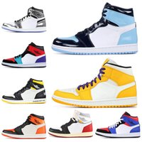 chaussures de sport achat en gros de-Hommes 1 1s Chaussures de basket airJordanrétro TURBO GREEN NYC TO PARIS Baskets Athletic Sports Hommes Entraîneur 5.5-12 Dropshipping
