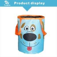 lixo automático venda por atacado-Cão dos desenhos animados Padrão de Lixo do Carro Pode Portátil Auto Lata de lixo À Prova de Fugas de Armazenamento Saco Grande Capacidade Tecido Oxford Pendurado Saco de Lixo Do Veículo