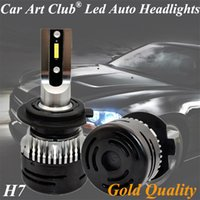 çok parlak ışıklar toptan satış-Araba Sanat Kulübü LED Far H7 Ampuller H7 12 V çok parlak Araba LED lamba beyaz ışık rengi 6500 K Ampuller Orijinal ışık Yerine H7