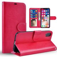 iphone 5s stehen fall großhandel-Telefon Fall für iPhone X Fall Retro Flip Stand Wallet Ledertasche für Samsung S9 S8 PLUS NOTE8 iPhone 5 s 6 s