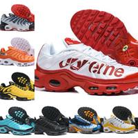 zapatos de moda caliente al por mayor-Nike Air Max TN Plus Supreme Shoes airmax Tn Off white Tn Plus Chaussures Requin diseñador moda de malla transpirable de lujo para correr zapatillas de deporte casuales