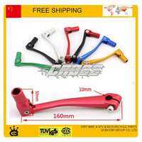 Wholesale atv free ship resale online - gear shift lever alloy aluminium crf cc cc cc dirt pit monkey bike motorcycle atv quad accessories parts