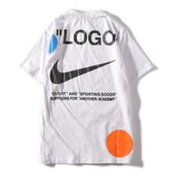 männer heißen weißen brief großhandel-19ss Hot T-Shirt Mode aus Männer Hohe Qualität 100% Baumwolle Sommer Stil Kurzarm T-Shirts Marken weiß Herrenbekleidung Brief Drucken T-Shirt bs