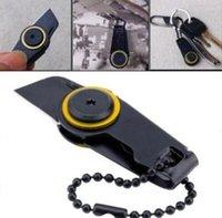 ingrosso coltello di chiusura lampo-Nuovo Mini Pocket Knife Zipper Outdoor EDC Fold Sopravvivenza Lama militare Self Defense Utility Gear spedizione gratuita