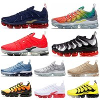 ingrosso modello di uva-nike air vaporma TN Plus 2019 Olympic Plus Mens Scarpe da lavoro Work Neon Triple Black Grape All Red Gioco Royal USA SILVER PATTERNS Uomo Donna Sport Sneakers 36-45