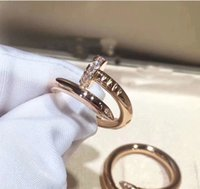 Wholesale fancy gold sets for sale - Group buy Fancy Nail Ring for Woman Man New Fashion K Real Gold Platinum Rose gold Plated Jewelry Brand Size