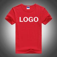 benutzerdefiniertes bedrucktes hemd logo großhandel-Customed Design Logo Foto 100% Baumwolle Tshirt Unisex Custom Logo Foto Print Männer und Frauen plain T-Shirt