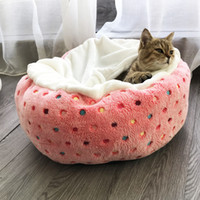 ingrosso piccola cassa di viaggio per cani-Fleece Pet Cat Kitty Bed House Warm Puppy Mini Letto per cani Chihuahua Teddy Bed Dog Mat Cat Sleeping Bag Kennel