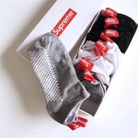 streetwear çorap toptan satış-Toptan 6 Çift / grup erkek Kısa Hip Hop Çorap Açılış Streetwear erkek Spor Hip Hop Çorap