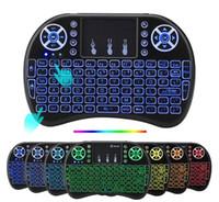 ingrosso tastiera senza fili di retroilluminazione wireless-20 pz Rii i8 Tastiera Retroilluminazione Wireless Air Mouse Remote Con Touchpad Palmare Per TV BOX X96 TX3 mini MXQ PRO Plus