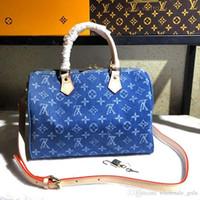 ingrosso repliche di lusso-Luxury designer borsetta designer borsetta moda cuciture modello grande capacità produzione pelle e tela replica lusso 40391 A4