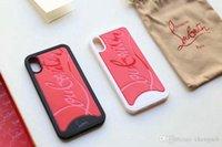 design móvel venda por atacado-Tpu soft edge + hard back cover design de marca caso de telefone móvel para o iphone 7 7 plus xs xsmax x