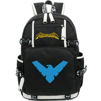 Wholesale school wing for sale - Group buy Nightwing backpack Robin style daypack Night wing schoolbag Leisure packsack rucksack Sport school bag Outdoor day pack