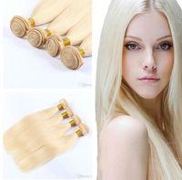 Wholesale human hair colours for sale - Group buy 8A Brazilian Human Hair Remy Hair Weaves inch Bundles Straight Virgin Hair Pieces Blonde colour