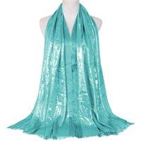 ingrosso sciarpe multiuso-Sciarpa lunga in seta argento pieno di stelle in cotone all'ingrosso monocromatico sciarpa lunga da donna multiuso XYW99