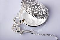 locket aberto venda por atacado-925 de Prata Oco de Expanding Foto Medalhão Colar Requintado Colar Caixa de Jóias Aberta Colares Homens Pingente de Jóias Presente Da Lembrança