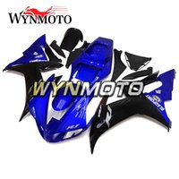 mercado de accesorios de motocicletas de plástico al por mayor-Armazones de carrocería azul negro para Yamaha YZF1000 R1 2002 2003 Carcasas de carrocería de bicicleta completas R1 02 03 Aftermarket Motocicleta Paneles de plástico Nuevo