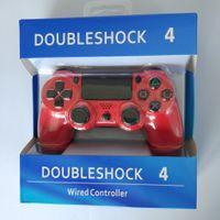 jogo com joystick venda por atacado-DoubleShock PS4 4 Jogo Controlador Com Fio Joysticks para PS4 Controlador Acessórios Do Jogo Gamepad para sony Play Station 4