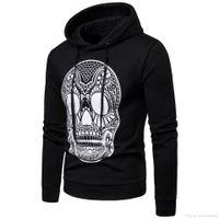 cráneo sudaderas para hombre al por mayor-Mens Skull Designer Hoodies Hombre Hombre Hommes Sudaderas Casual Tops Otoño Primavera Ropa
