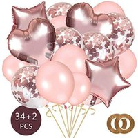 Wholesale kids toys for sale - Group buy 36PCS Love foil balloon suit balloon Clear Ballons Party Wedding Party Decoration Kid Children Birthday Party Supplies Air Ballon Toys