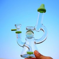 Wholesale heady ball rig resale online - Glow In the Dark Ball Slitted Donut Perc Showerhead Glass Bong Inch Heady Dab Rig Mini Water Bongs mm Joint XL