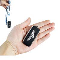 büyü sevimli toptan satış-Unlocked Sevimli Mini Araba Anahtarı Modeli cep Telefonu Çift Sim Kart Sihirli Ses Bluetooth Dialer MP3 Tek Anahtar Kayıt GSM Cep Cep Telefonu