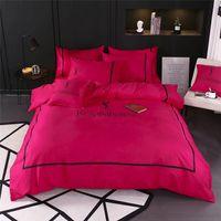siyah kral yataklar setleri toptan satış-Siyah Classics Ev Tekstil Yüksek Kalite Pamuk Yatak For Women Avrupa Ve Amerika Queen Size Yatak Suit ayarlar