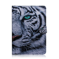 huawei hua honra venda por atacado-Para huawei honor media t5 10.1 polegada tablet case capa flip stand carteira de couro colorido desenho tigre leão coruja flor