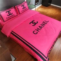 ingrosso fogli di stampa floreali rosa-Set di biancheria da letto confortevole e fresco Set di biancheria da letto di lusso di alta qualità semplice lettera king size Set di trapunte da letto full size Twin L1