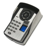 дверной звонок с сенсорным экраном оптовых-Сенсорный экран 7-дюймовый отпечаток пальца пароль дистанционного управления разблокировать видео дверной звонок ночного видения водонепроницаемый электронный визуальный смарт-дверной звонок