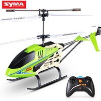 Wholesale mini indoor helicopters resale online - SYMA Official S8 CH RC Helicopter with Axis Alloy Body Remote Control Mini Indoor Drone LED Flashing Aluminum Aircraft