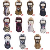 Wholesale girls face masks for sale - Group buy Adult D Animal mask sports headscarf mask quick dry Balaclava Snowboard Bicycle Windproof Thermal Full Face Mask styles