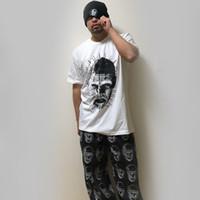 Wholesale cozy pants resale online – designer 18SS Full Of Print Ghost Soul Pants High Street Retro Cozy Loose Hip Hop Men s Designer Trousers HFWPKZ055