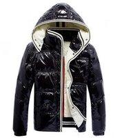 preto para baixo moda parka venda por atacado-Designer de moda Jaquetas Casacos de Inverno Jaqueta de Pato Para Baixo Casaco Engrosse Quente Preto Zipper Bolsos Para Baixo Parkas