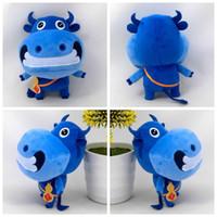 große mundspielzeug großhandel-30cm nette große Mund Vieh Plüschtiere Kuh-Cartoon Plüschtiere Puppe Geburtstag gitfs für Kinder Kinderspielzeug
