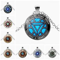Wholesale new energy pendant for sale - Group buy New Creative Pendant Necklace Accessories Iron Man Heart Time Gemstone Necklace Poly Energy Fashion Pendant Necklace Sweater keychain toys