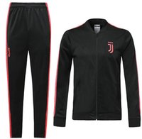 Wholesale new long jackets for sale - Group buy 19 new Juventus black Jacket Tracksuit JUVE DYBALA training suit soccer pants RONALDO CR7 long sleeve Full Zipper Jacket Kits