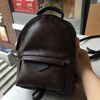 kadınlar için tasarlanmış sırt çantası toptan satış-Yüksek Kalite En İyi Fiyat! Özgün Tasarım Hakiki deri mini kadın çantası çocuk sırt çantası lüks ünlü moda Springs Palm