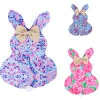 Wholesale cotton lace home decor resale online - 2020 New Design Garden Flags DIY Easter Bunny Flag Floral Pattern Rabbit Ear Plush Tail Hanging Flags Banner Home Decor Toys cm E11305